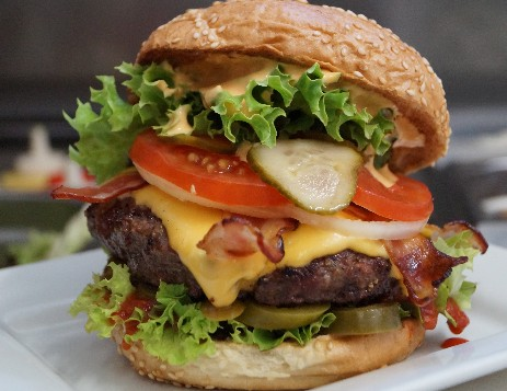 Bacon Burger and Cheese